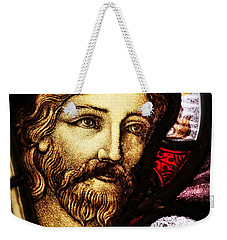 Weekender Tote Bag featuring the photograph Jesus The Good Shepard by Verena Matthew