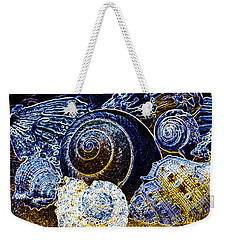 Abstract Seashell Art Weekender Tote Bag by Carol F Austin