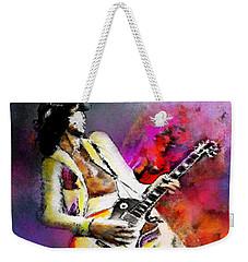 Jimmy Page 02 Weekender Tote Bag by Miki De Goodaboom