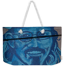 Weekender Tote Bag featuring the digital art Johnny On The Wall by Carol Ailles