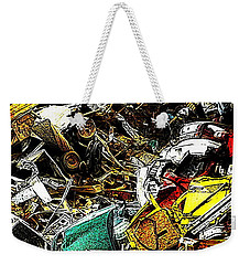 Weekender Tote Bag featuring the photograph Junky Treasure by Lydia Holly