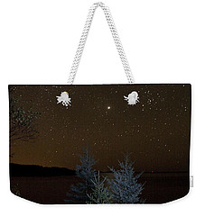 Weekender Tote Bag featuring the photograph Jupiter  Over Otter Point 2 by Brent L Ander