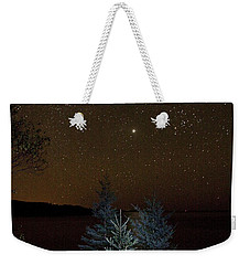 Weekender Tote Bag featuring the photograph Jupiter  Over Otter Point 3 by Brent L Ander