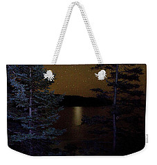 Weekender Tote Bag featuring the photograph Jupiter Rising Over Otter Point by Brent L Ander