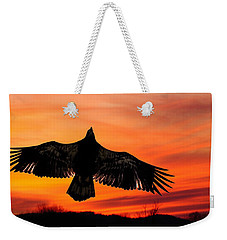 Weekender Tote Bag featuring the photograph Juvenile Sunset  by Randall Branham