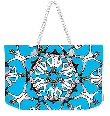 Weekender Tote Bag featuring the drawing Kaleidoscoot by R  Allen Swezey