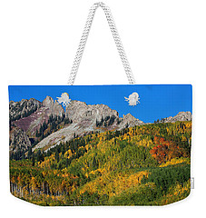 Weekender Tote Bag featuring the photograph Kebler Pass by Jim Garrison