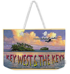 Key West Air Force Weekender Tote Bag by David  Van Hulst