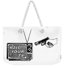 Kill Your Tv Weekender Tote Bag by Tony Koehl