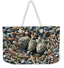 Killdeer Bird Eggs Weekender Tote Bag by Jennie Marie Schell