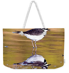 Killdeer Reflection Weekender Tote Bag by Betty LaRue