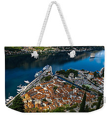 Weekender Tote Bag featuring the photograph Kotor Montenegro by David Gleeson