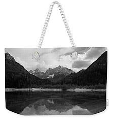 Kranjska Gora In Black And White Weekender Tote Bag