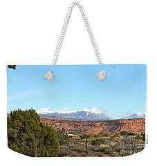 La Sal Mountains Weekender Tote Bag