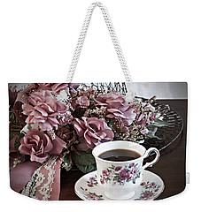 Ladies Tea Time Weekender Tote Bag by Sherry Hallemeier
