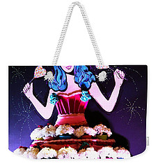 Weekender Tote Bag featuring the photograph Lady In Flowers by Alice Gipson