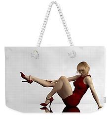 Lady In Red... Weekender Tote Bag