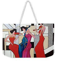 Lady Musicians Weekender Tote Bag
