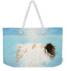 Weekender Tote Bag featuring the painting Lady Of The Water by Kume Bryant