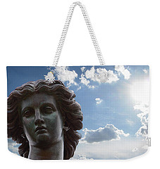 Weekender Tote Bag featuring the photograph Lady Of The Waters by Sarah McKoy