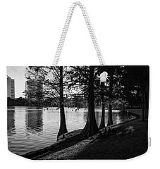 Weekender Tote Bag featuring the photograph Lake Eola Water Edge by Lynn Palmer
