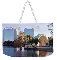 Weekender Tote Bag featuring the photograph Lake Eola's  Classical Revival Amphitheater by Lynn Palmer