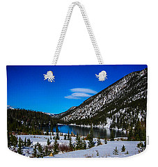 Weekender Tote Bag featuring the photograph Lake In The Mountains by Shannon Harrington