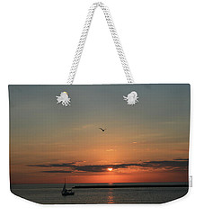 Weekender Tote Bag featuring the photograph Lake Michigan Sun Rise by Kay Novy