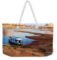 Lake Powell Houseboat Weekender Tote Bag by Michele Penner