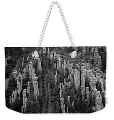 Weekender Tote Bag featuring the photograph Land Of Standing Up Rock  by Vicki Pelham