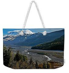 Landscape Of Mount St. Helens Volcano Washington State Art Prints Weekender Tote Bag by Valerie Garner