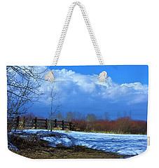 Landscape  Snow Scene Weekender Tote Bag