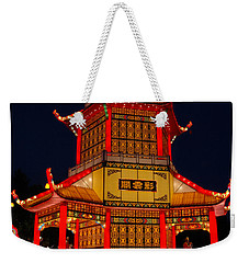 Weekender Tote Bag featuring the photograph Lantern Lights by Vivian Christopher