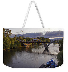 Last Light On Caveman Bridge Weekender Tote Bag