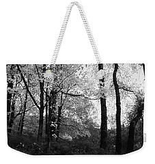 Weekender Tote Bag featuring the photograph Lasting Leaves by Kathleen Grace
