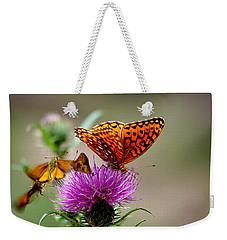 Late For Lunch Weekender Tote Bag by Vicki Pelham