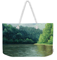Weekender Tote Bag featuring the painting Later That Day by Joe Winkler