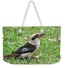 Laughing Kookaburra Weekender Tote Bag by Kaye Menner