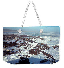 Weekender Tote Bag featuring the photograph Lava Rock 90 Mile Beach by Mark Dodd