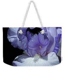 Lavender Blue Iris Weekender Tote Bag by Phyllis Denton
