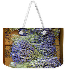 Weekender Tote Bag featuring the photograph Lavender Bundles by Lainie Wrightson