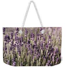 Lavender Field Weekender Tote Bag by Laura Melis