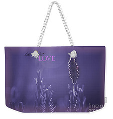 Weekender Tote Bag featuring the photograph Lavender Love by Vicki Ferrari