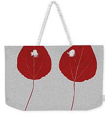 Leafs Rouge Weekender Tote Bag by Bruce Stanfield