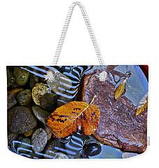 Leaves Rocks Shadows Weekender Tote Bag by Bill Owen