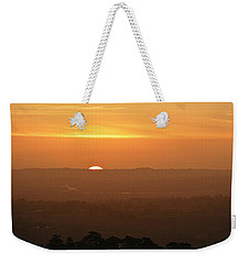 Leicestershire Sunrise Weekender Tote Bag by Linsey Williams