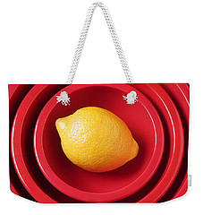 Lemon In Red Bowls Weekender Tote Bag