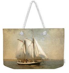 Liberty Clipper On Boston Harbor Weekender Tote Bag