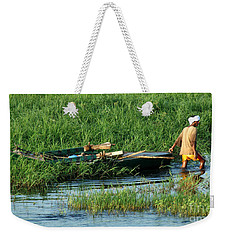 Weekender Tote Bag featuring the photograph Life Along The Nile by Vivian Christopher
