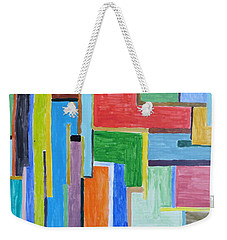 Weekender Tote Bag featuring the painting Life by Sonali Gangane